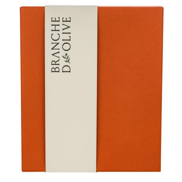 Branche d'Olive gift box in orange