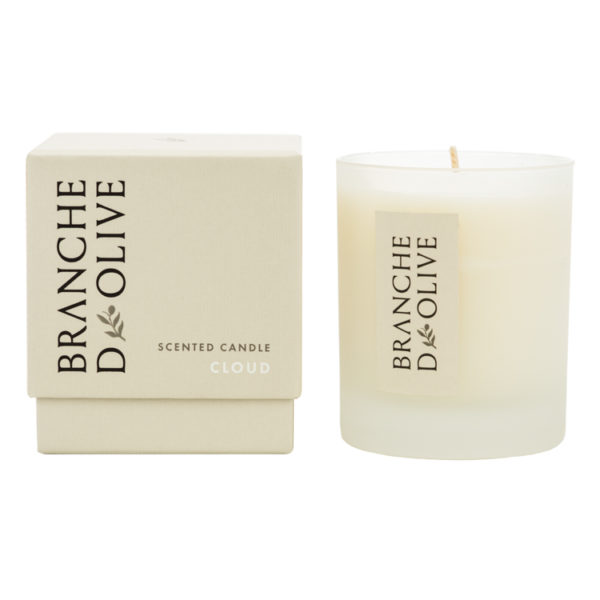 Branche d'Olive Cloud Scented Candle and display box
