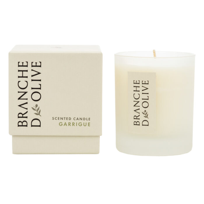 Branche d'Olive Garrigue Scented Candle and display box