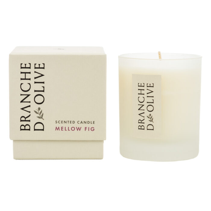 Branche d'Olive Mellow Fig Scented Candle and display box