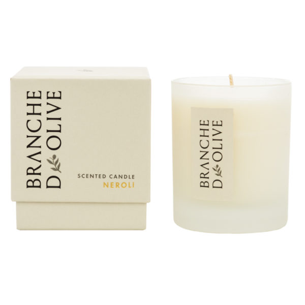 Branche d'Olive Neroli Scented Candle and display box