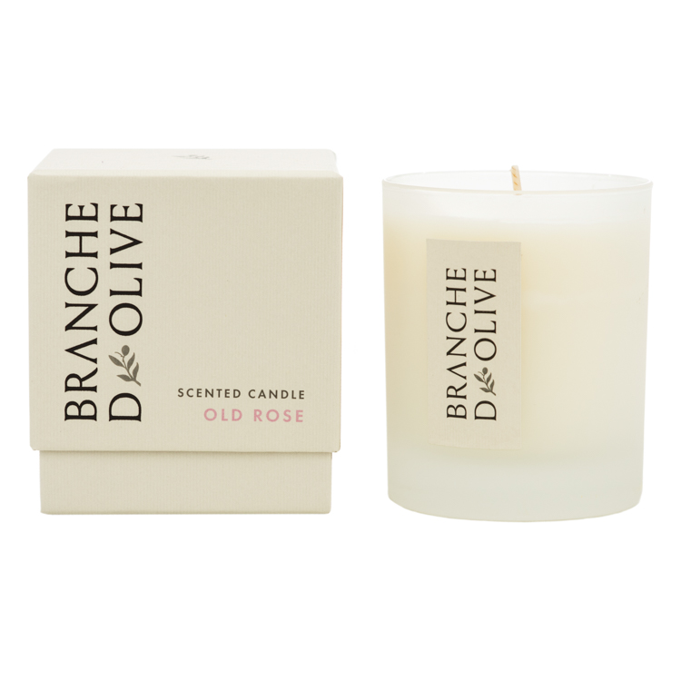 Branche d'Olive Old Rose Scented Candle and display box