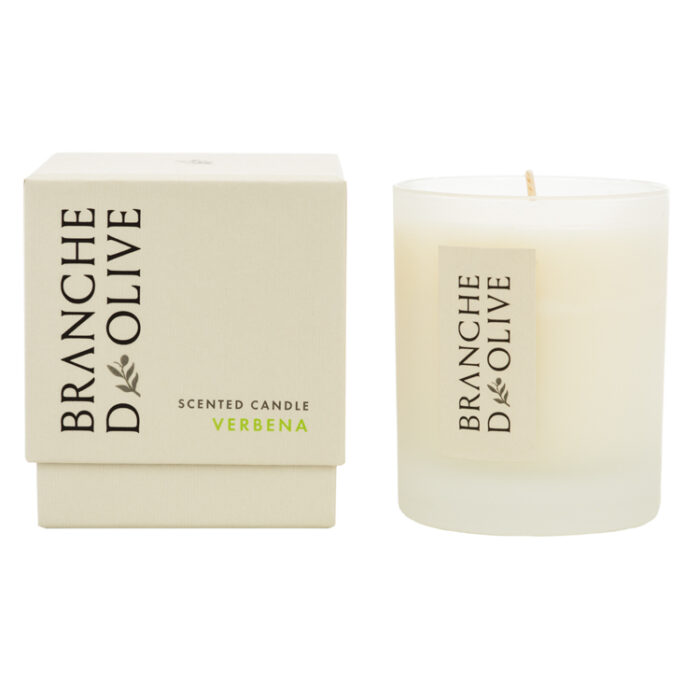 Branche d'Olive Verbena Scented Candle and display box