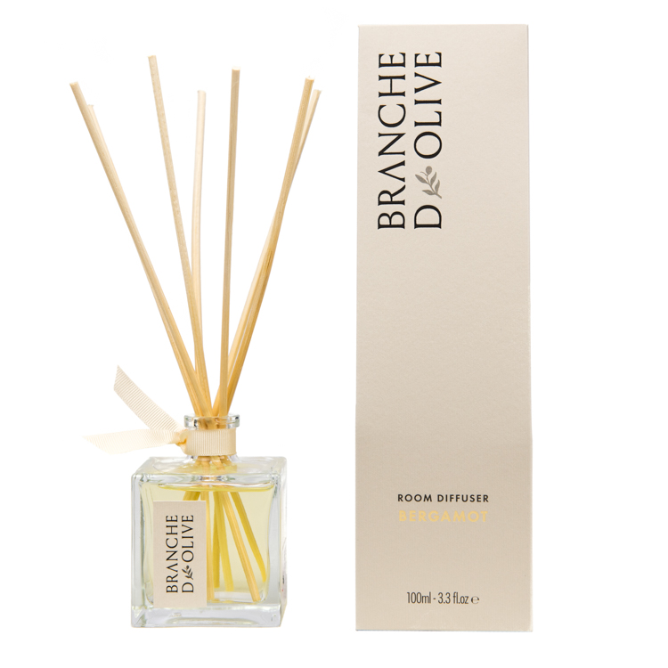 Branche d'Olive Bergamot scented Room Diffuser with display box