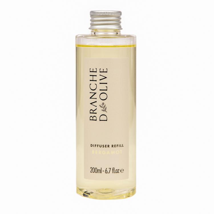 Branche d'Olive Bergamot fragranced Diffuser Refill bottle