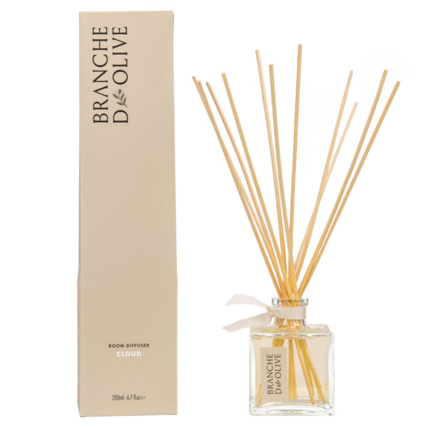 Branche d'Olive Cloud scented 200ml Room Diffuser and display box