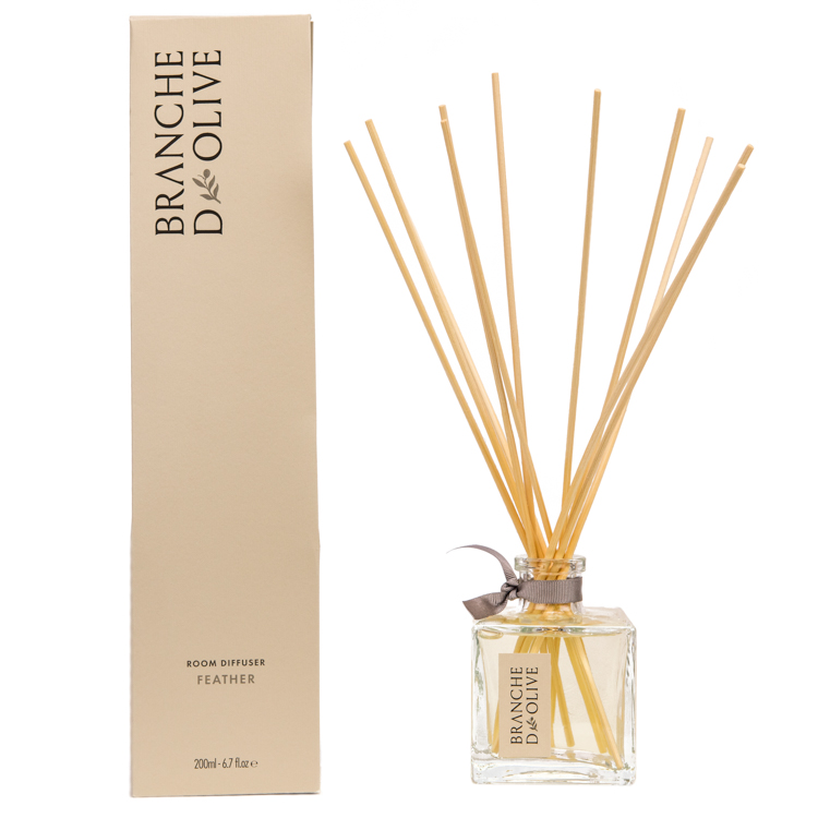Branche d'Olive Feather scented 200ml Room Diffuser and display box