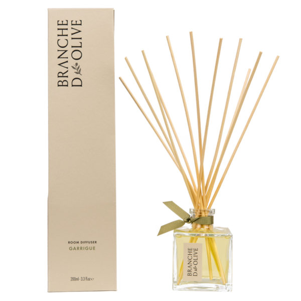 Branche d'Olive Garrigue scented 200ml Room Diffuser and display box