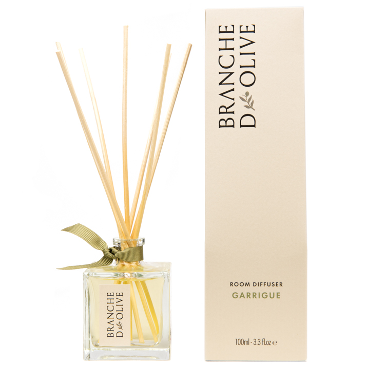 Branche d'Olive Garrigue scented Room Diffuser with display box