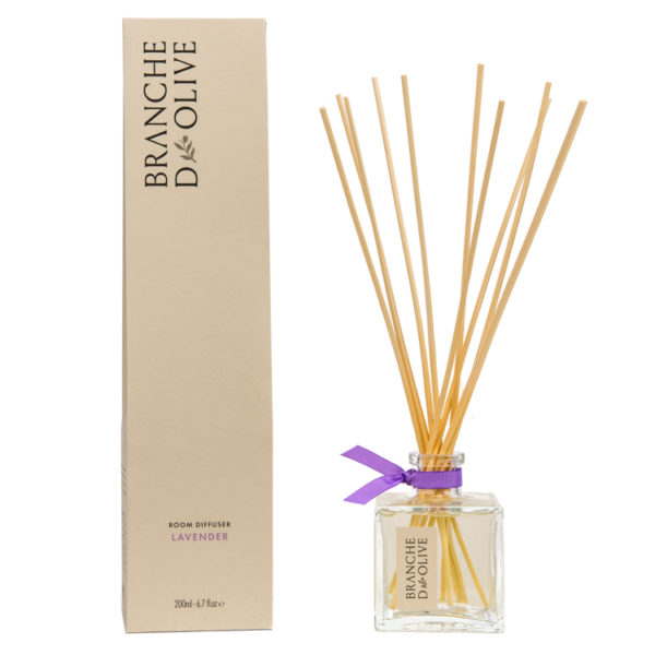 Branche d'Olive Lavender scented 200ml Room Diffuser and display box