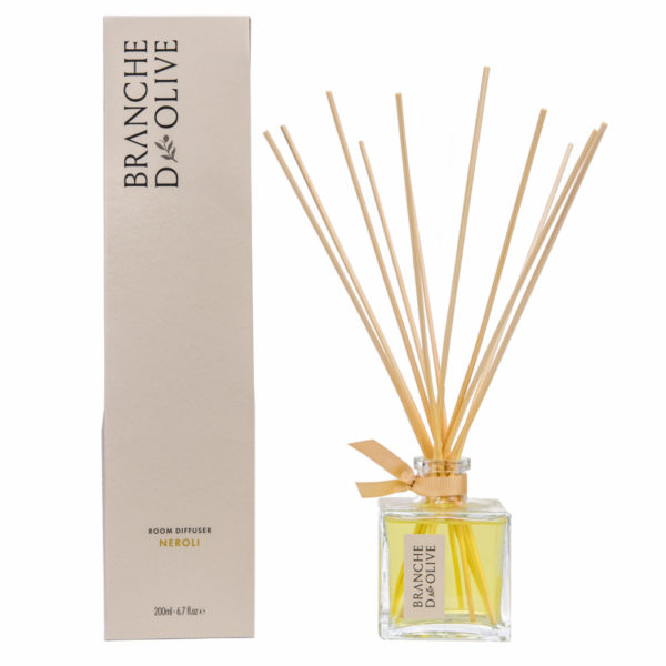 Branche d'Olive Neroli scented 200ml Room Diffuser and display box