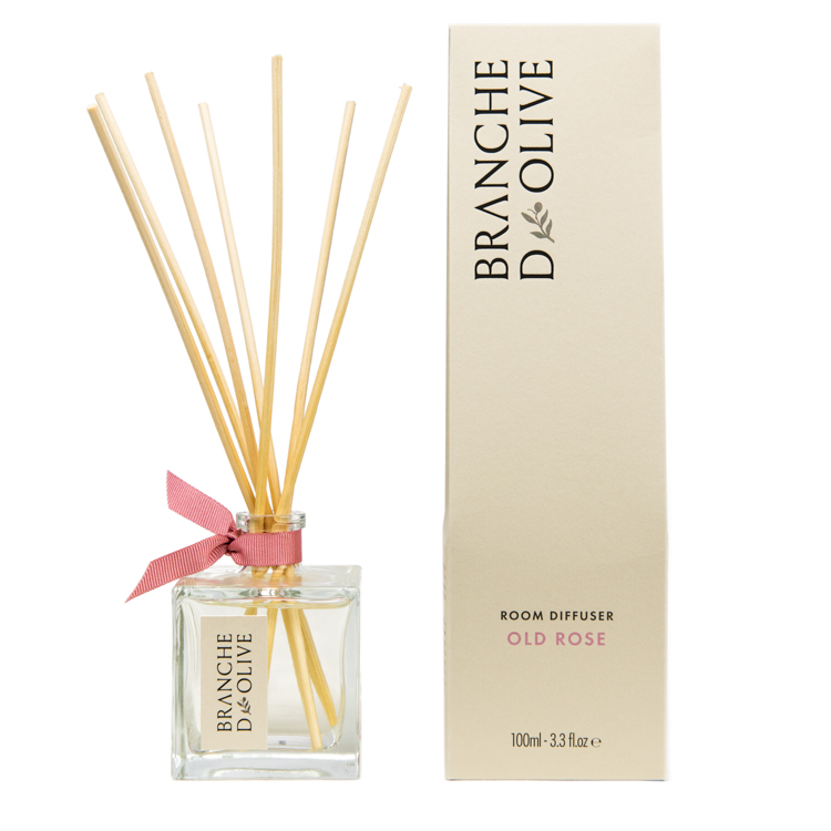Branche d'Olive Old Rose scented Room Diffuser and display box