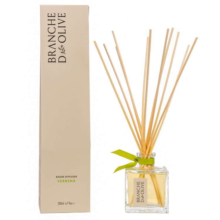 Branche d'Olive Verbena scented 200ml Room Diffuser and display box