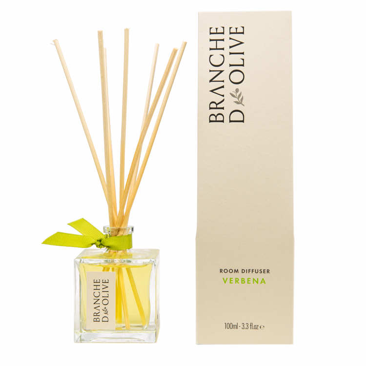 Branche d'Olive Verbena scented Room Diffuser and display box
