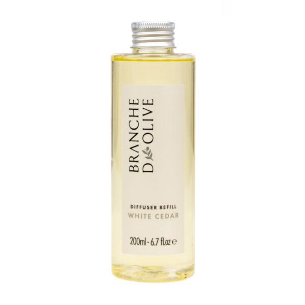 Branche d'Olive White Cedar fragranced Diffuser Refill bottle