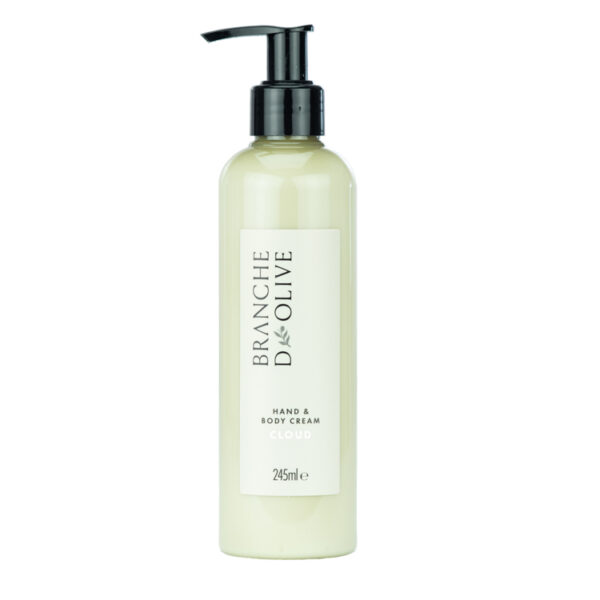 Branche d'Olive Cloud Hand and Body Cream bottle with black pump