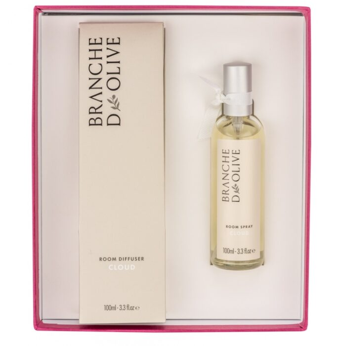 Branche d'Olive Cloud Room Diffuser and Room Spray Gift Box in pink
