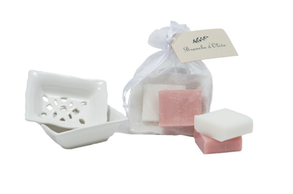 Bagged Small Soap Dish with 2 x 30g Soaps