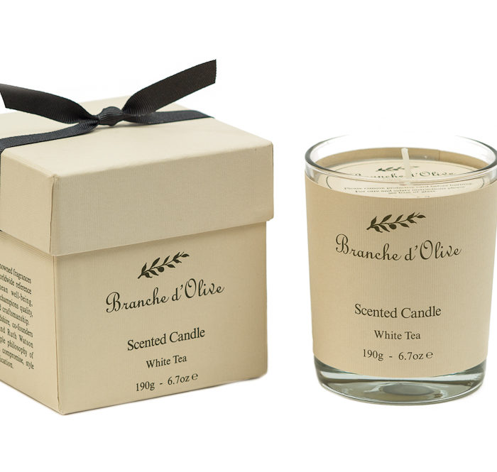 Boxed Scented Candle - White Tea